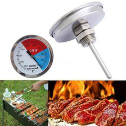 100-550℉ BBQ Charcoal Grill Pit Wood Smoker Temp Gauge The