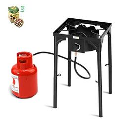 COSTWAY 100,000-BTU Portable Propane Outdoor Camp Stove w/Ad
