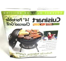 """Cuisinart 14"""" Portable Charcoal Gourmet Outdoor Grill Colo"""