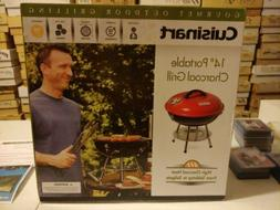 """CUISINART 14"""" PORTABLE CHARCOAL GRILL. GOURMET OUTDOOR GRILL"""
