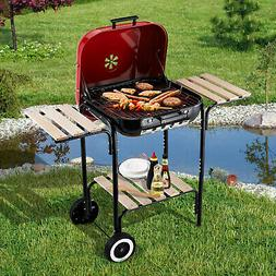 "19"" Steel Porcelain Portable Outdoor Charcoal Barbecue Bar"