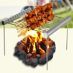 1PC Foldable Stainless Steel BBQ <font><b>Grill</b></font> R