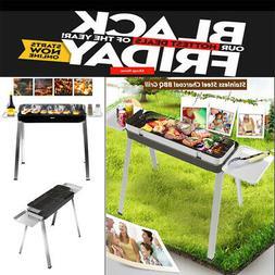 New Smokeless Fold Barbecue Charcoal Grill Stove Shish Kebab