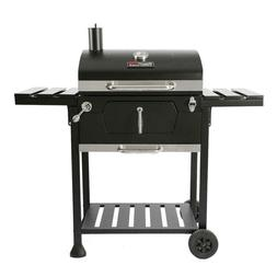 Royal Gourmet 23 in. Charcoal BBQ Grill in Black with 2-Side