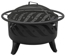 Landmann 23172 Patio Lights Firewave Firepit, Black
