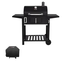 Royal Gourmet 24'' BBQ Charcoal  Side Table Grill with Cover