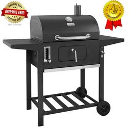Royal Gourmet 24 in. BBQ Charcoal Grill in Black with 2-Side
