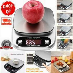 3/5/10kg Kitchen Digital Scale LCD Electronic Balance Food W