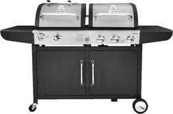 3-Burner Liquid Propane Gas & Charcoal Grill Combo in one Gr