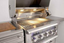 36″ American Muscle Grill - Dual Fuel / Charcoal / Gas - A