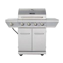 4-Burner Propane Gas Grill in Stainless Steel with Side Burn