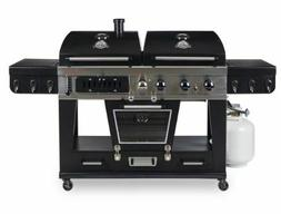 4-in-1 Gas & Charcoal Combo Grill with Smoker