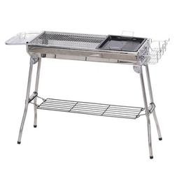 "41"" x 13"" Stainless Steel Folding Portable Charcoal Barbecue"