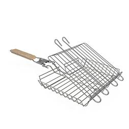 The Purple Cricket - 430 Stainless Steel Grilling Basket, Ad