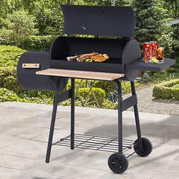 48 steel portable backyard charcoal bbq grill