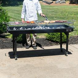 "60"" Heavy-Duty Outdoor Portable Charcoal Grill with Removabl"