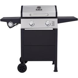 Dyna-Glo 2-Burner Open Cart Propane Gas Grill in Stainless S
