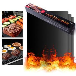 On'h BBQ Grill Mat 16 x 13 Inch Barbecue Grill Mats Set of 3