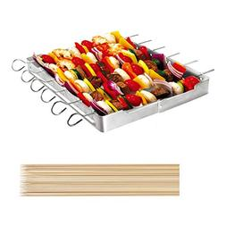 UNICOOK Heavy Duty Stainless Steel Barbecue Skewer Shish Kab