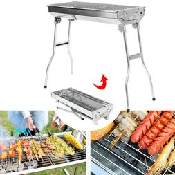 Barbecue Charcoal Grill Stove Shish Kebab Stainless Steel Pa