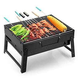 Uten Barbecue Charcoal Grill Folding Portable Lightweight BB