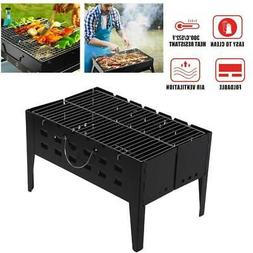 BBQ Barbecue Grill Fold Portable Charcoal Camping Garden Out