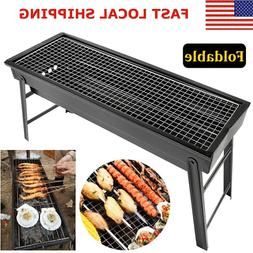 BBQ Barbecue Grill Folding Portable Charcoal Kabob Stove Cam