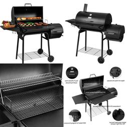 Royal Gourmet BBQ Charcoal Grill and Offset Smoker, 30'' L,
