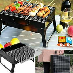BBQ Charcoal Grill Folding Portable Lightweight Barbecue Cam