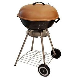 "Unique Imports BBQ Charcoal Kettle Grill 18"" Moving Wheels O"