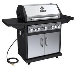 Dyna-Glo  Premium BBQ GRILL, 5 Burner Natural GAS GRILL, Bla