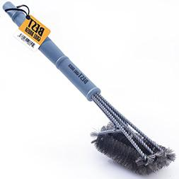 """Best BBQ Grill Brush STAINLESS STEEL) 18"""" Barbecue Cleaning"""