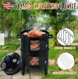 BBQ Barbecue Cooker Charcoal Grill Water Smoker Outdoor Back