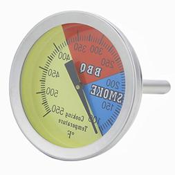 Pitmasters Supply BBQ Grill Gauge Thermometer, Kitchen Smoke