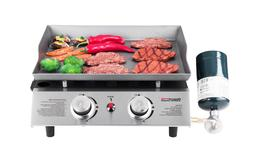 Royal Gourmet BBQ Propane Gas Grill 2 Burner Tabletop Campin