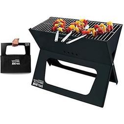 BBQCroc Charcoal Grills Portable Easy - Premium Foldable Bar