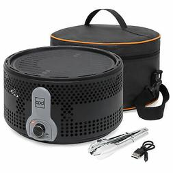 BCP 16in Portable Electric Tabletop Charcoal BBQ Grill w/ Tr