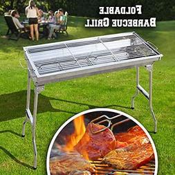 BenefitUSA Charcoal Grills Foldable Large Stainless Steel Ba