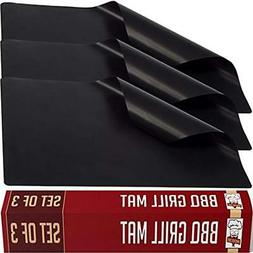 Black Twisted Chef Bbq Grill Mat Set Non Stick Mats Essentia