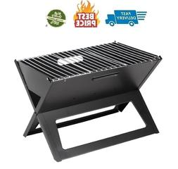 Black Notebook Charcoal Grill, Heavy Duty 14 Inch Steel Cons