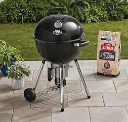 Black Superior Kettle Charcoal Grill 22 in. Outdoor Picnic C