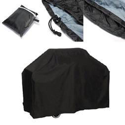 Black Waterproof BBQ Cover <font><b>Heavy</b></font> <font><
