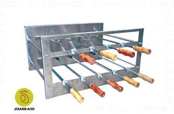 Brazilian BBQ Charcoal Grill - 09 Skewers - Rotisserie Syste