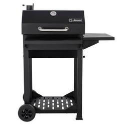 Nexgrill Cart-Style Charcoal Grill with Foldable shelves, Bl