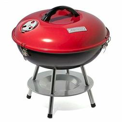 Cuisinart CCG-190RB Portable Charcoal Grill, 14-Inch, Red In