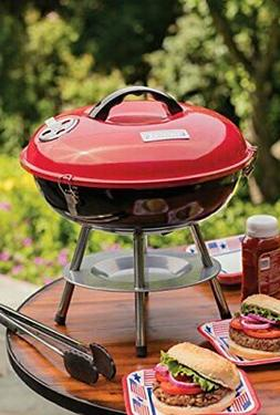 Cuisinart CCG-190RB Portable Charcoal Grill 14 Inch Red