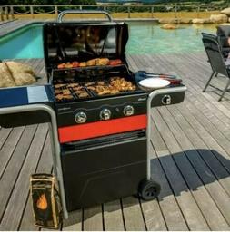 NEW Char-Broil Gas 2 Coal 3 Burner Gas & Charcoal Combo Hybr