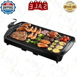 """2-in-1 Non-Stick Electric Griddle, 16.73""""x 8.94'',5-Level"""