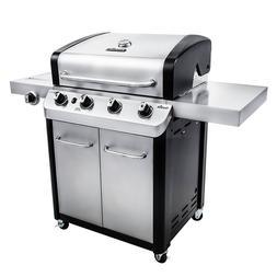 Char Broil Signature 4-Burner Cabinet Gas Grill Side Burner