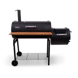 Char-Broil Silver Offset Wheeled Pellet Wood Chip Smoker Gri